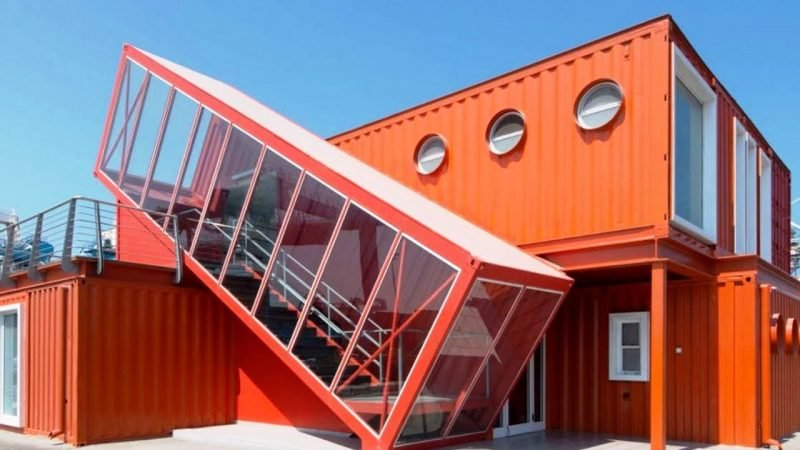 Container Haus Kaufen Rot