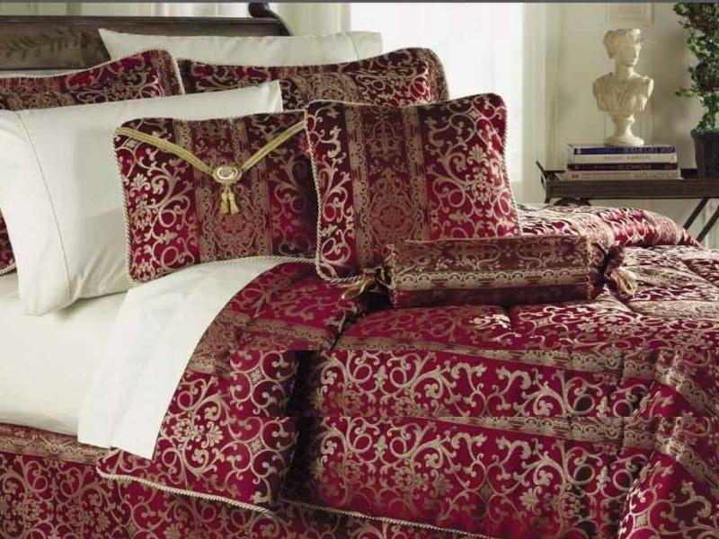 rote ideen für die luxus bettwäsche