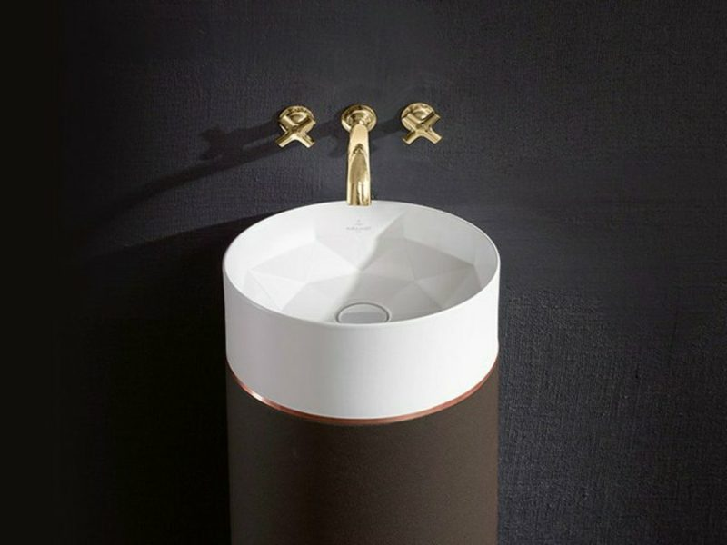 futurstisches luxuriöses waschbecken