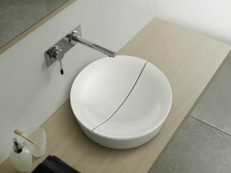 interessantes weißes waschbecken