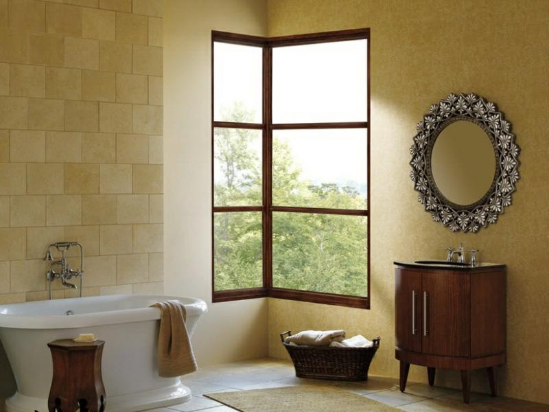 porzellanbadewanne neden dem eckfenster