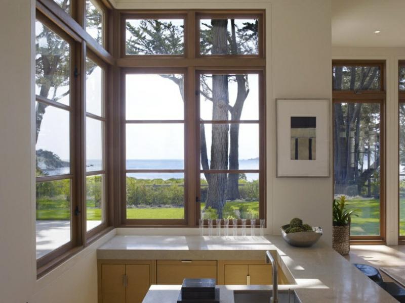moderne küche und eckfenstergestaltung
