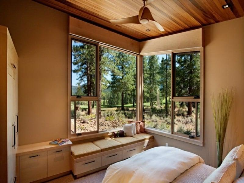 schlafzimmer und eckfenstergestaltung