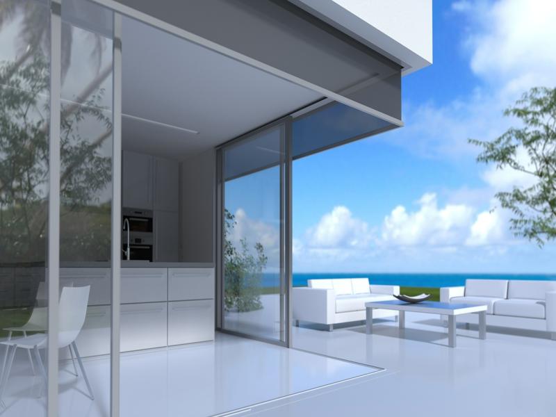 terrasse und eckfenstergetaltung