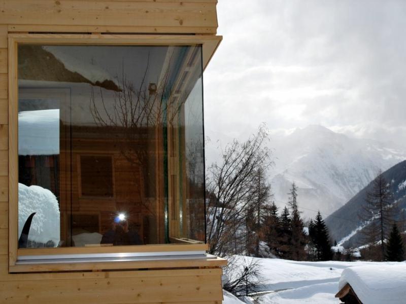 eckfenstergestaltung im winter