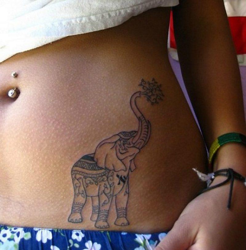 Elefant Tattoo Frauen