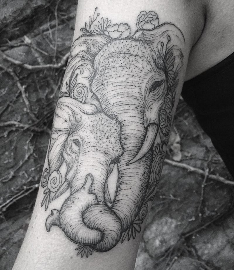 Elefant Tattoo Design