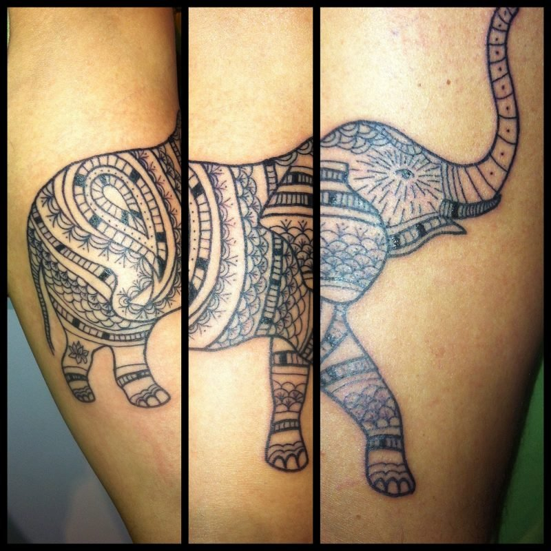 Elefant Tattoo Drei