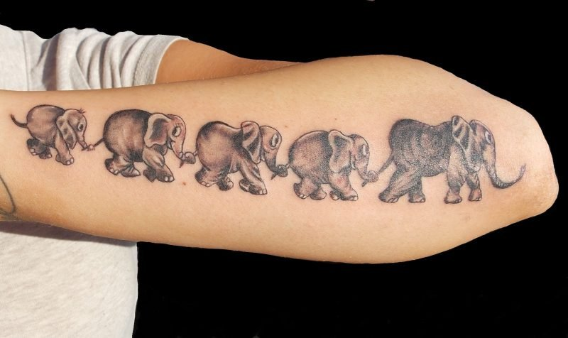 Elefant Tattoo Familie