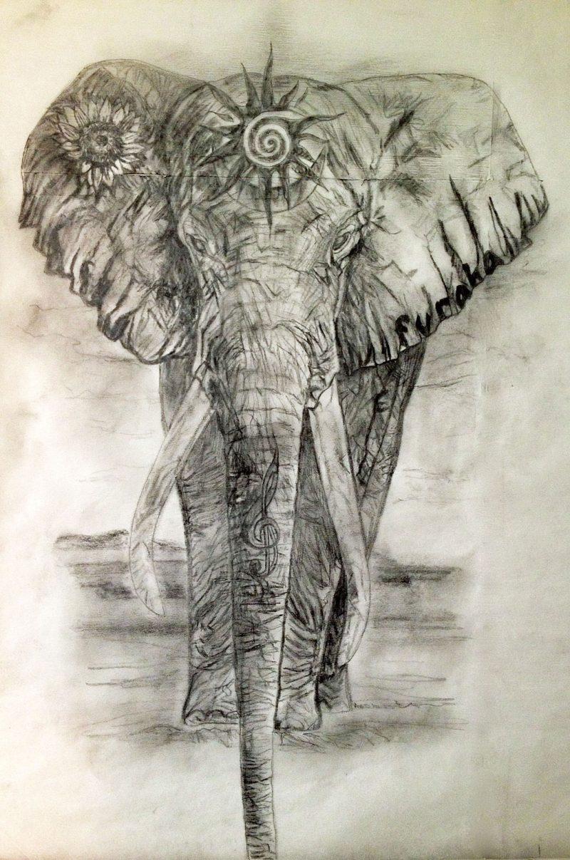 Elefant Tattoo Grafik