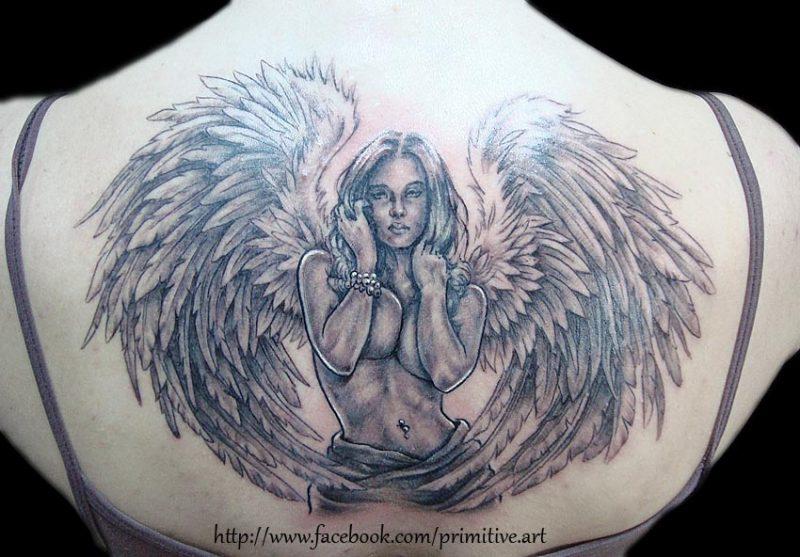 Engel Tattoos Frau
