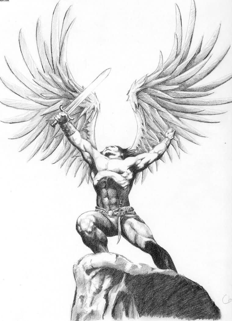 Guardian Angel Tattoo Sketches Die 25 besten Engel Ta...