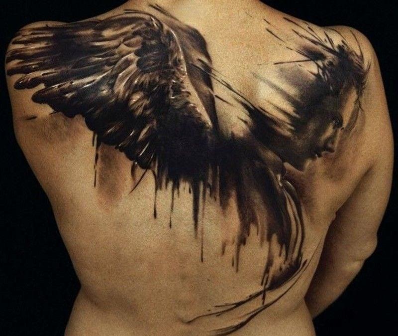 Engel Tattoos Gebrochenes Fluegel