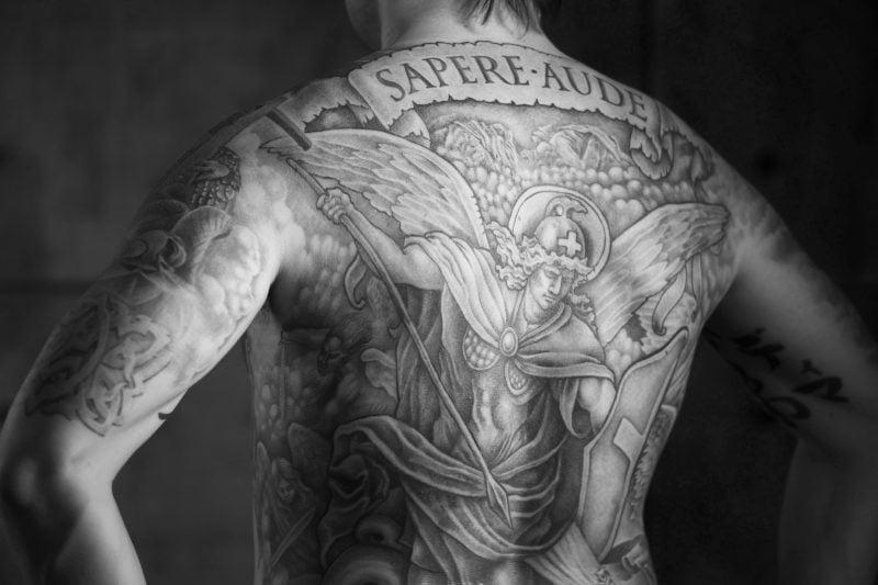 Lion Chest Tattoo Designs