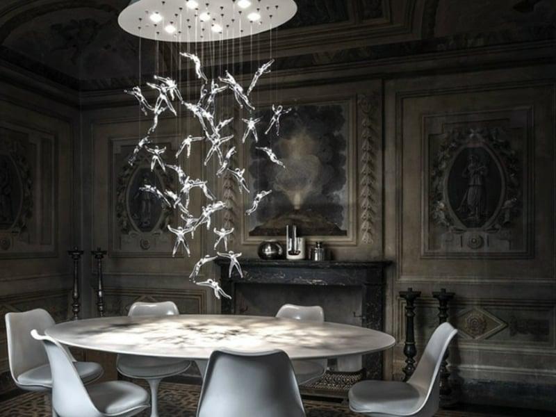 Elegante Kristalle Esszimmerlampen