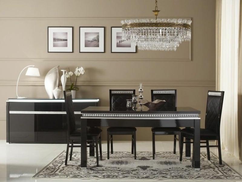esszimmerlampen und schwarze möbel
