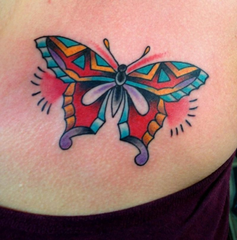 Schmetterling Tattoos Schmetterling im Ethno Stil