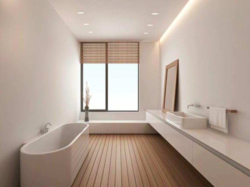 schlichte indirekte beleuchtung im bad