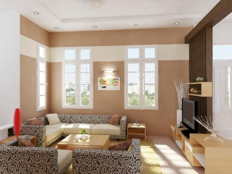 kombination aus brantönen im feng shui wohnzimmer
