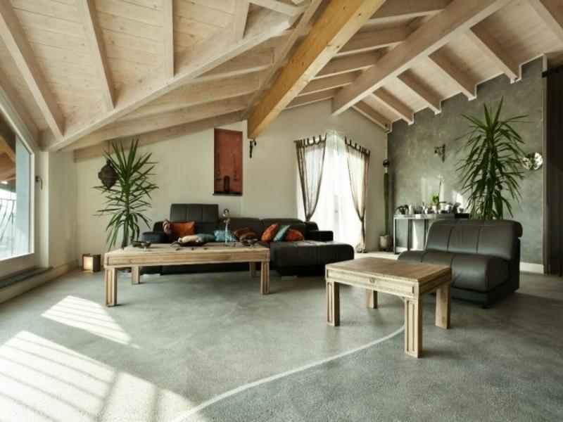 moderne holzmöbel im feg shui wohnzimmer