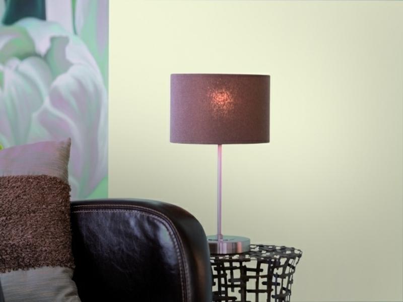 Feng Shui Wohnzimmer Fernseher Retro Stehlampe Im