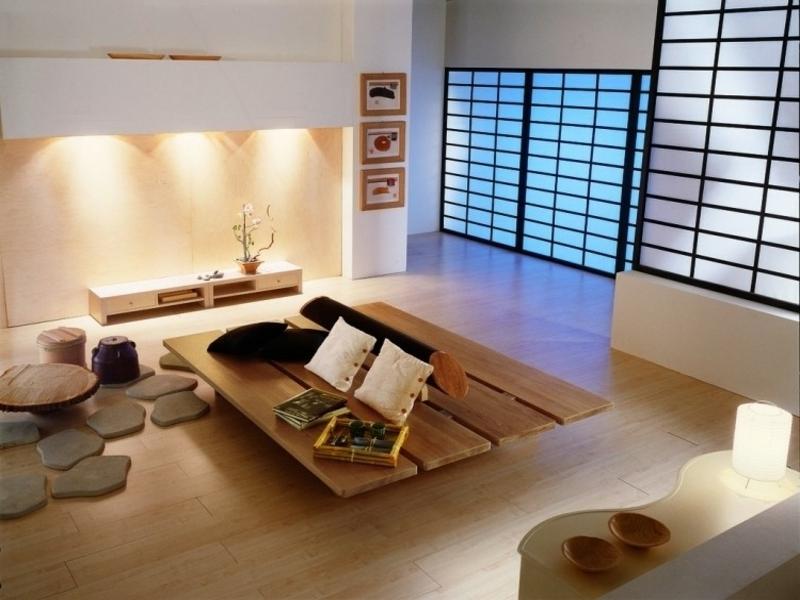 schönes modernes feng shui wohnzimmer
