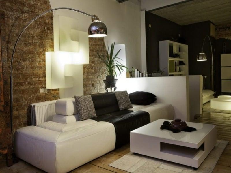 moderne lampe im feng shui wohnzimmer