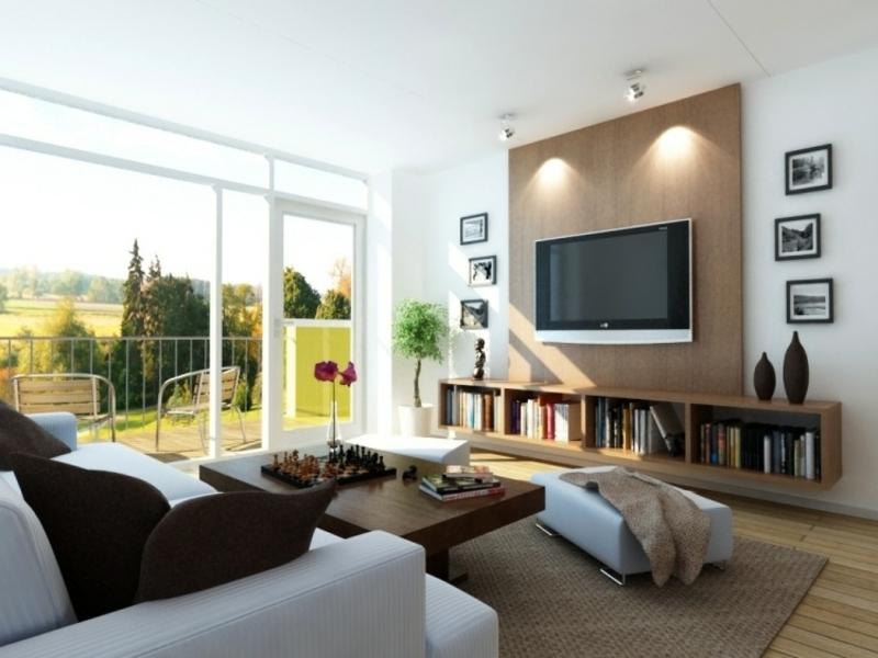 Großes Tv Im Feng Shui Wohnzimmer