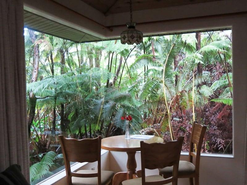 eckfenster und tropische atmosphäre
