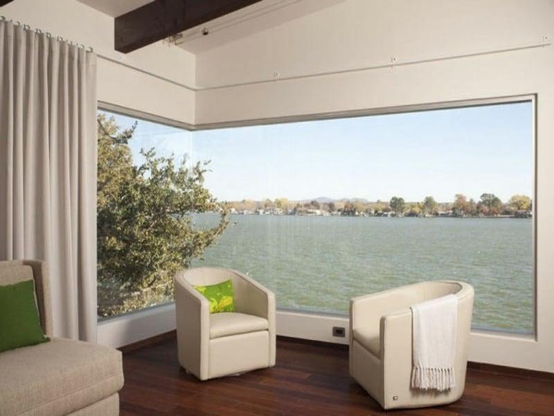 fenstergestaltung f r das perfekte panorama architektur zenideen. Black Bedroom Furniture Sets. Home Design Ideas