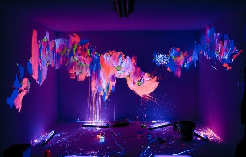 atemberaubende Lichteffekte fluoreszierende Farbe