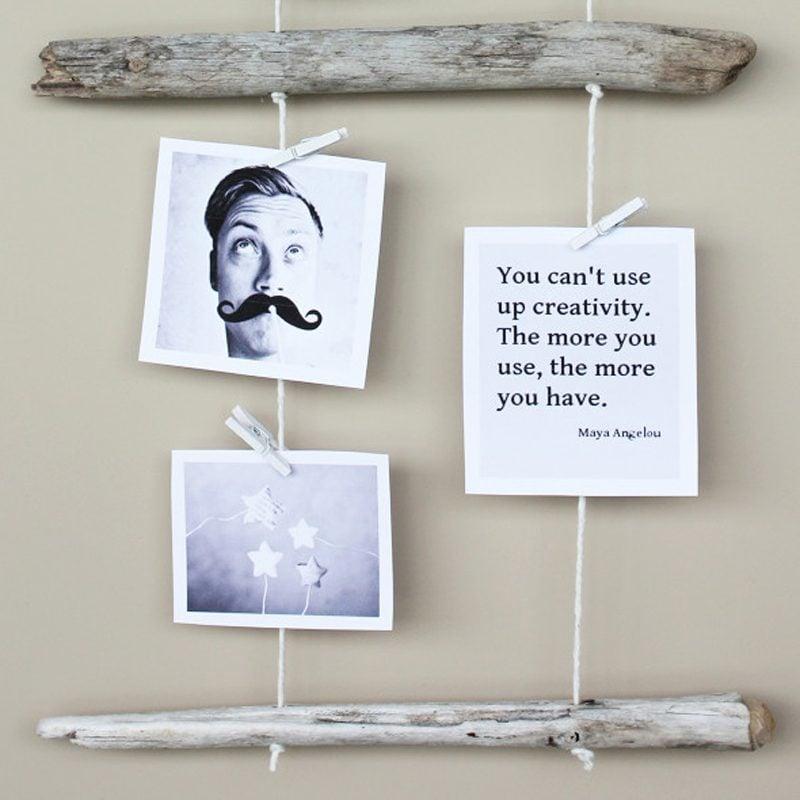 Fotocollage selber machen Holz Idee