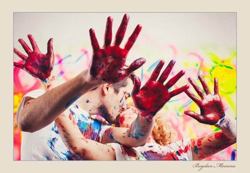 Fotoshooting Ideen Farben