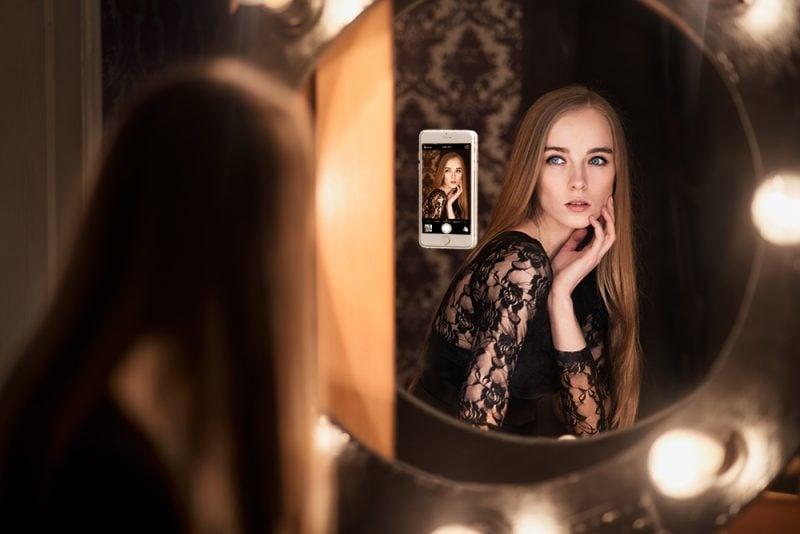 Fotoshooting Ideen Spiegel