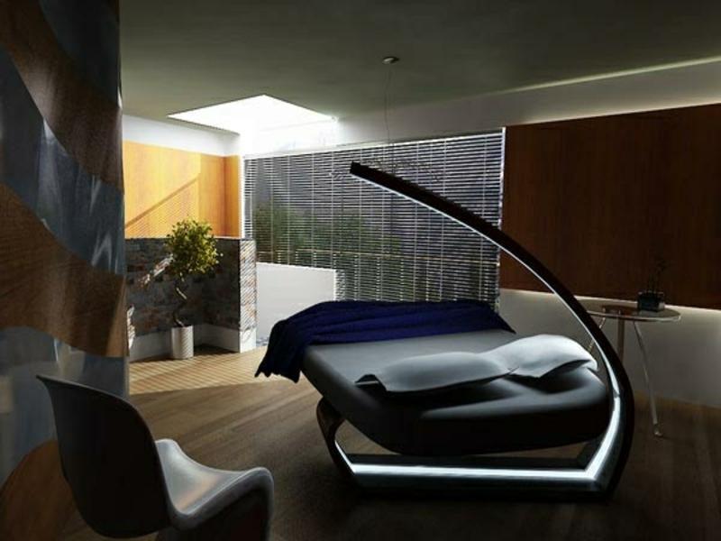 futuristik im luxus schlafzimmer