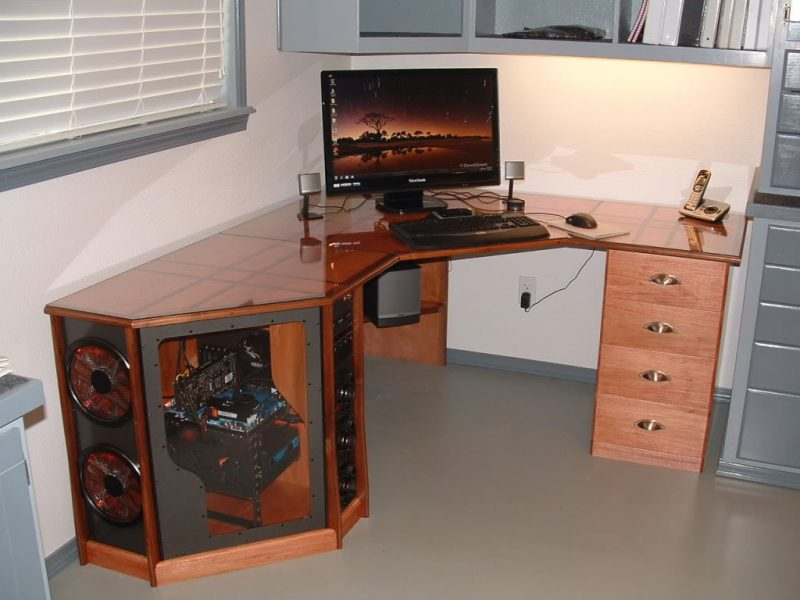 Gaming Schreibtisch Holz