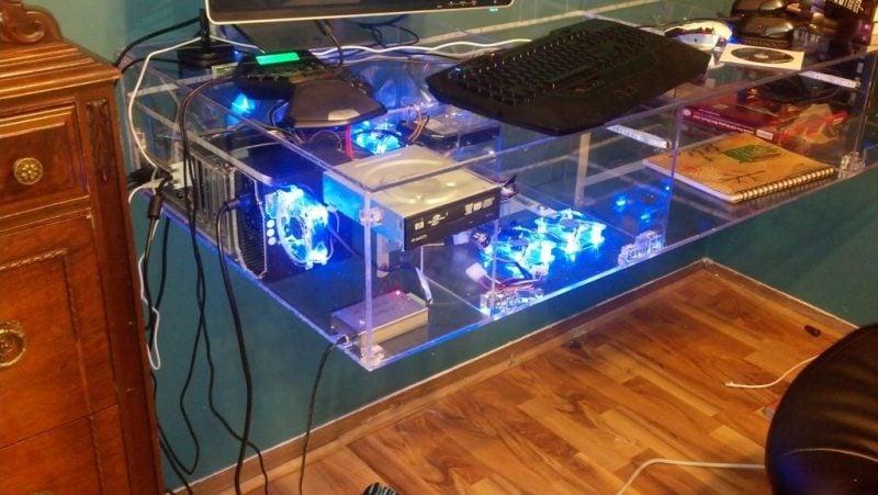 Gaming Schreibtisch Glas