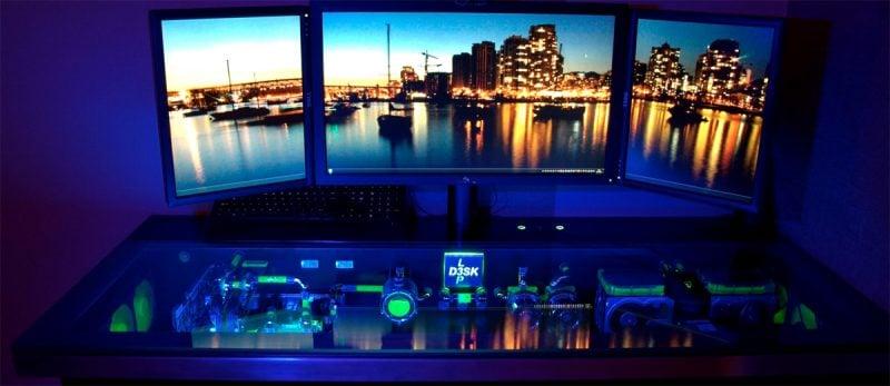 Gaming Schreibtisch Licht