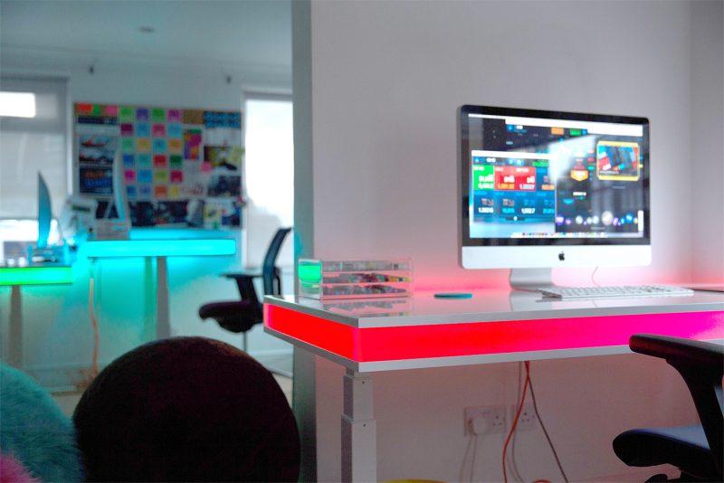 Gaming Schreibtisch weiss