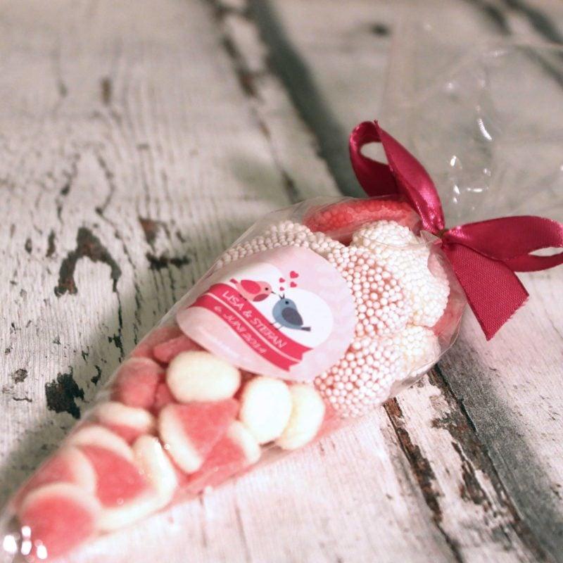 Give Aways Hochzeit Candy Tute