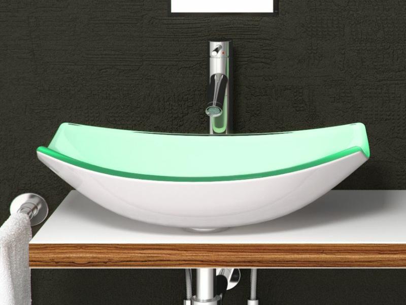 elegantes glawaschbecken in der badezimmergestaltung