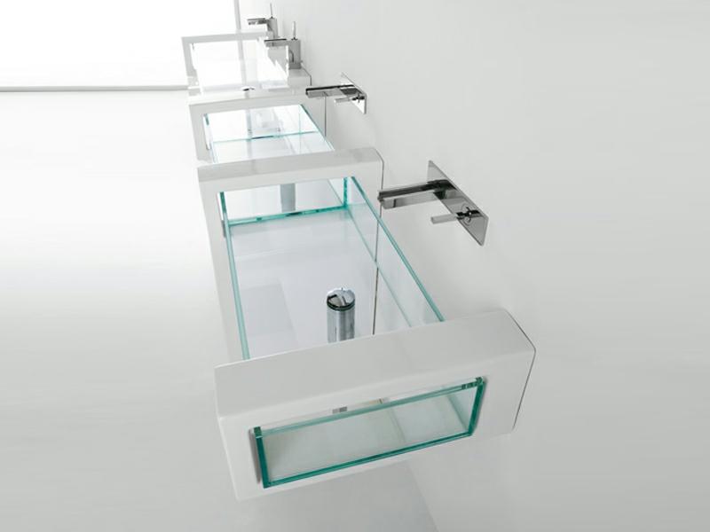 schöne glaswaschbecken in der badezimmergestaltung