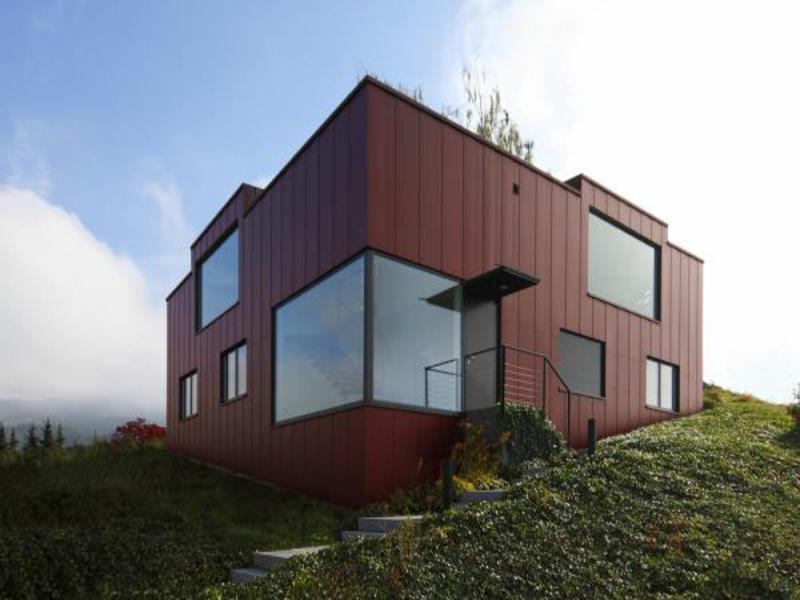 moderne riesige eckfenster