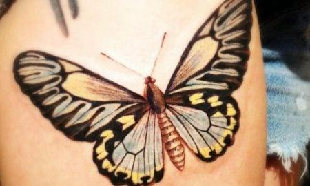 grosses Tattoo Schmetterling