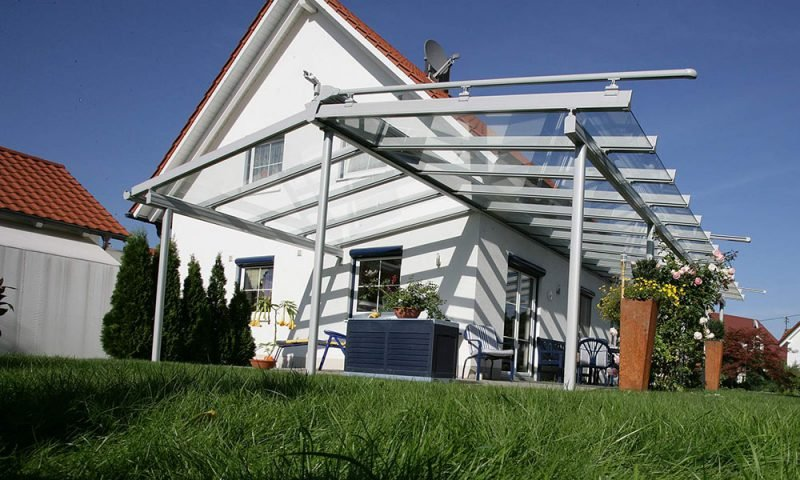 Glasdach Terrassengestaltung