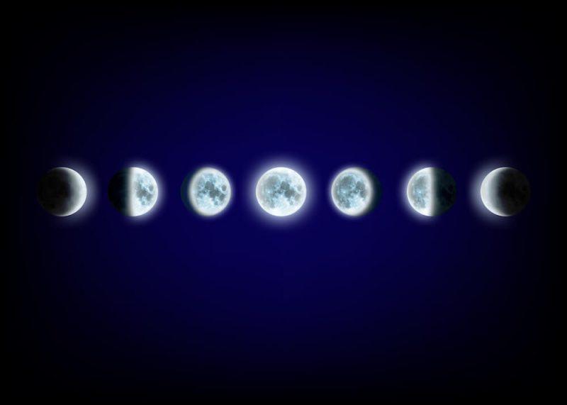 Haarschneiden nach dem Mond Phasen