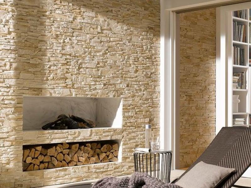 Steinoptik bei Wandverkleidung Steinpaneele