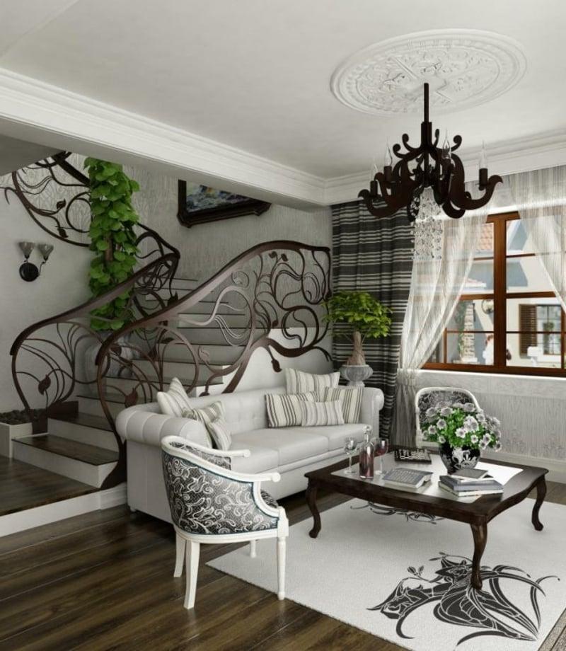 modernes Wohnzimmer im Barock Stil