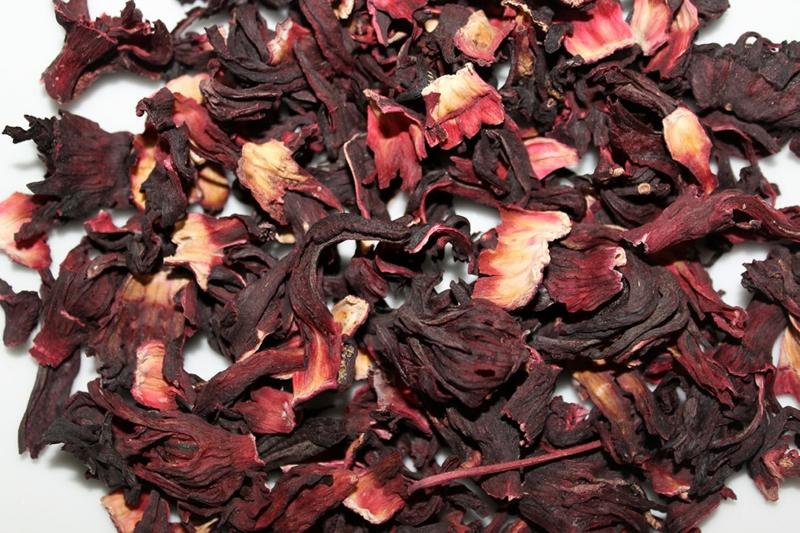 hibiskustee-Hibiskus-Blätter