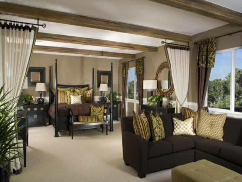 modernes exotisches himmelbett im luxus schlafzimmer